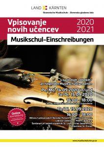 Vpisovanje novih učencev - Musikschul-Einschreibungen